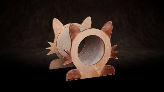 Griffoir pour chats - un chat de taille moyenne